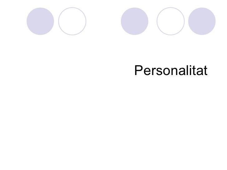Personalitat