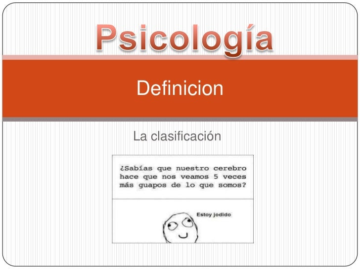 Psicologia y sus clases