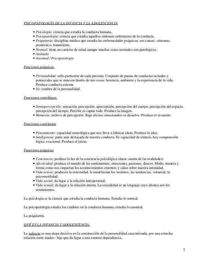 PSICOPATOLOGÍA DE LA INFANCIA Y LA ADOLESCENCIA Psicología: ciencia que estudia la conducta humana.• Psicopatología: cienc...