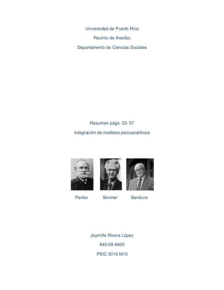 Universidad de Puerto Rico          Recinto de Arecibo Departamento de Ciencias Sociales         Resumen págs. 53- 57Integ...