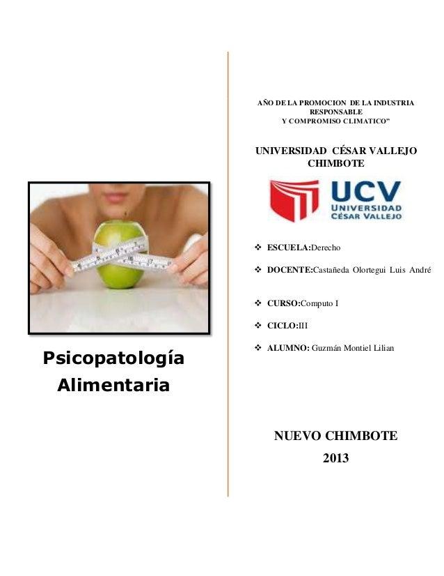 Psicopatologia alimentaria