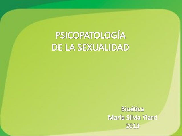 Psicopatologia de la sexualidad