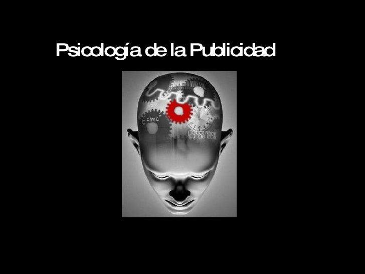 Psicología de la Publicidad