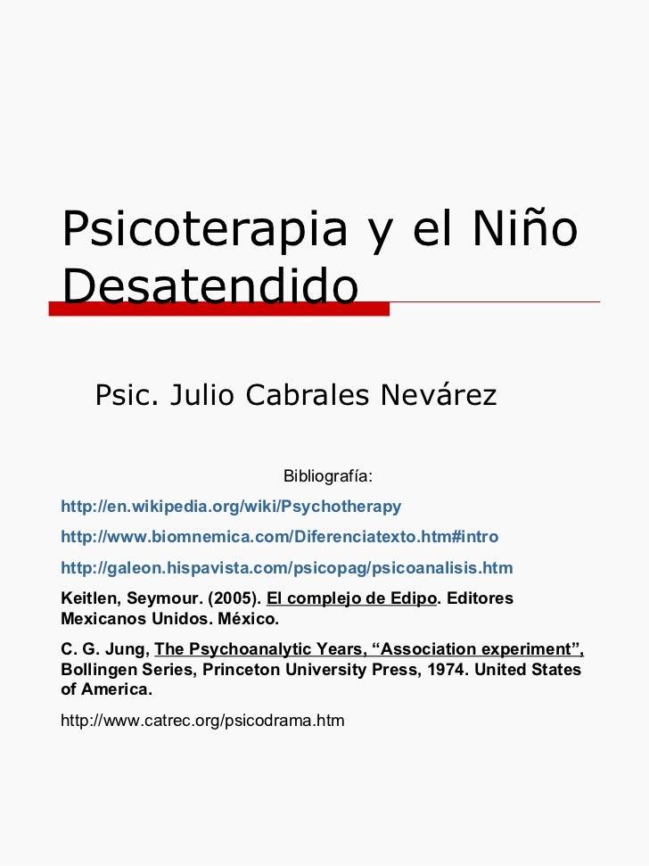 Psicoterapia 1 niño desatendido