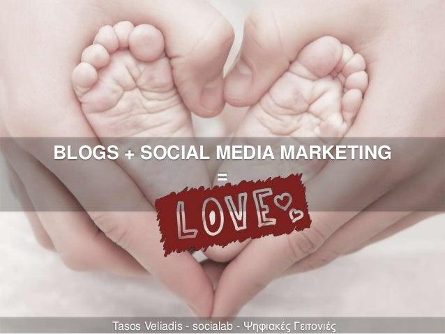 Blogs + Social Media Marketing = LOVE