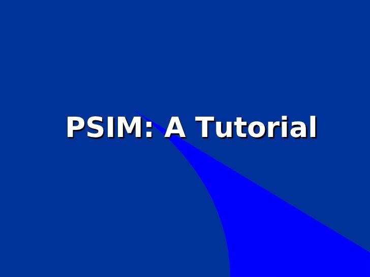 Psim tutorial- tiristor