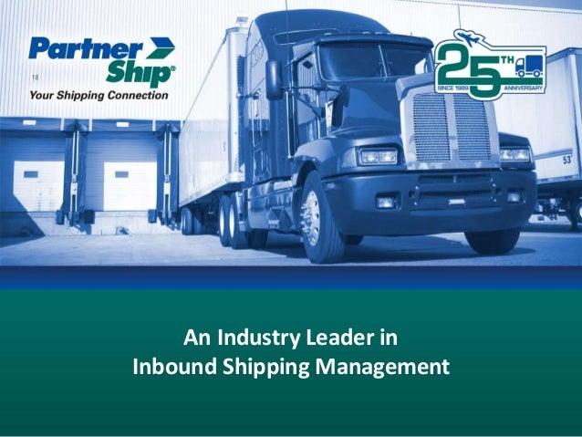 Inbound Shipping Management