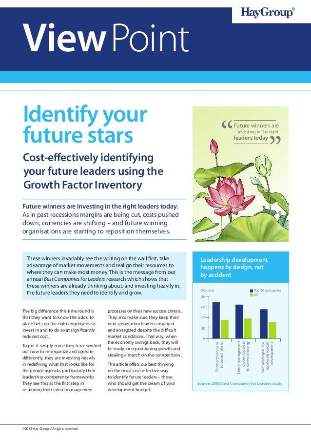Identify your future stars