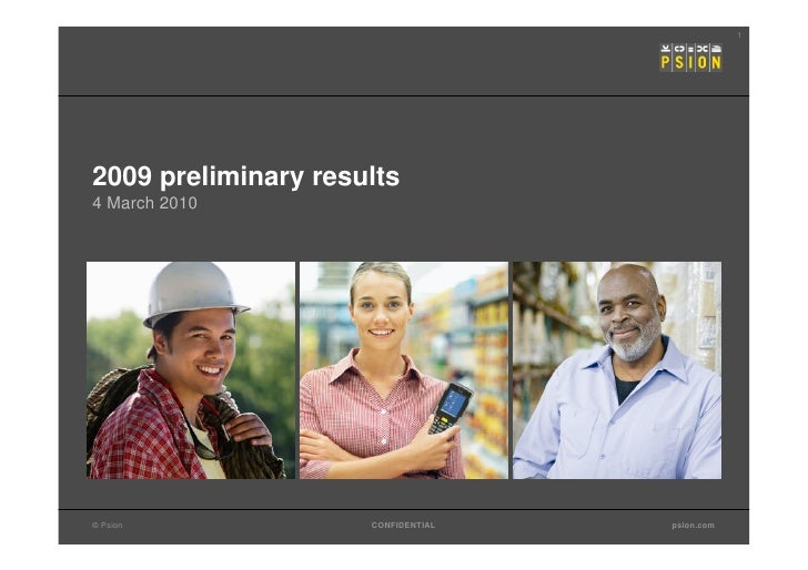 Psion Preliminary Results Presentation