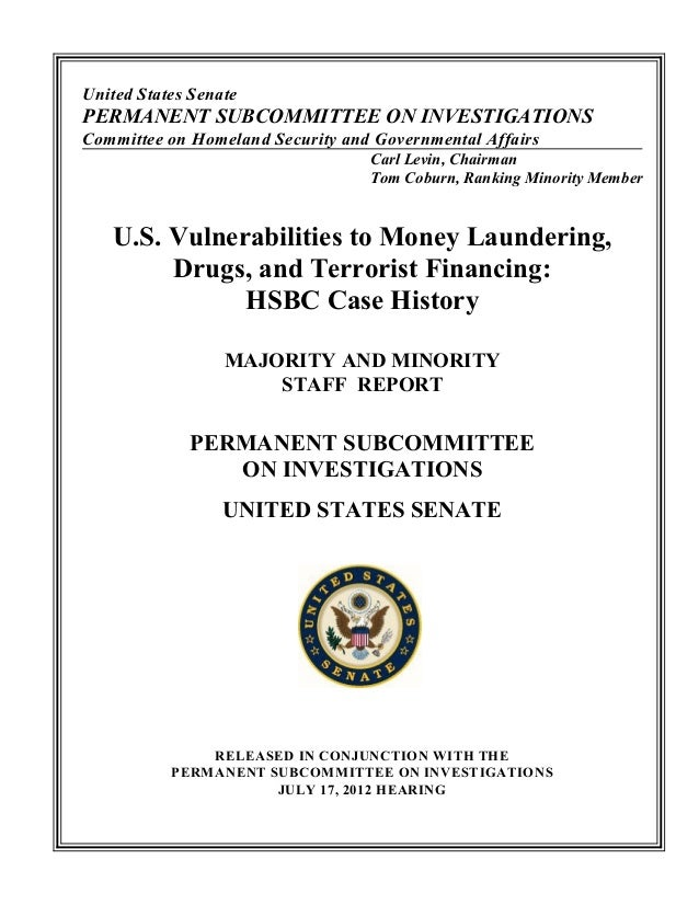 United States Senate PERMANENT SUBCOMMITTEE ON INVESTIGATIONS Committee on Homeland Security and Governmental Affairs Carl...
