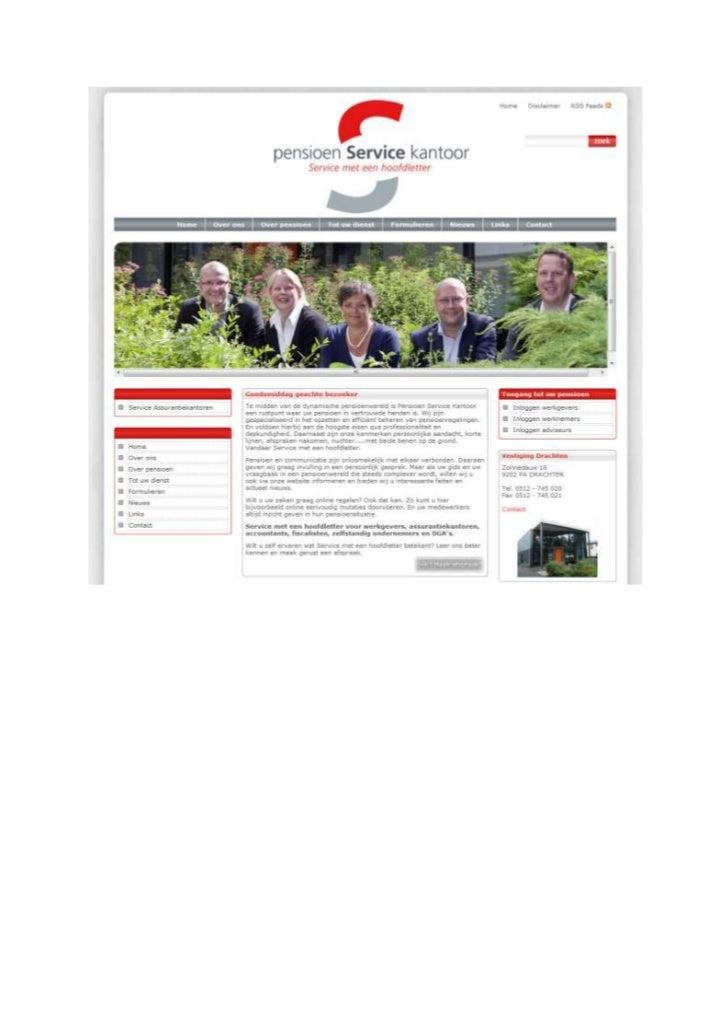 TGJ Communicatie Pensioen Service Kantoor huisstijl, realisatie website en -teksten