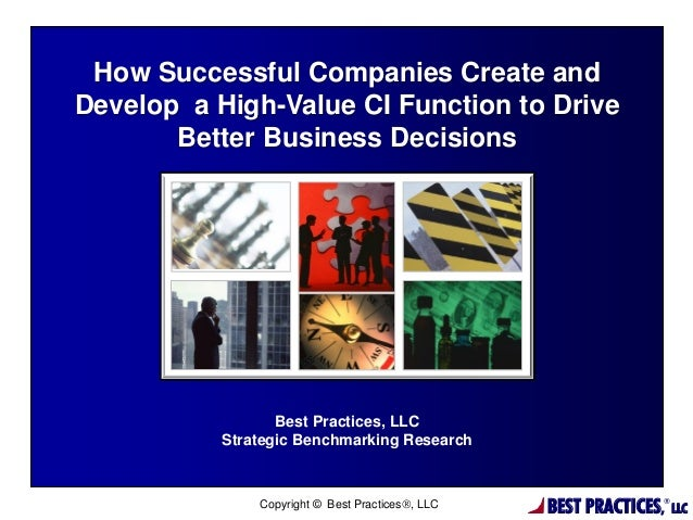 How Successful Companies Create and Develop a High-Value CI Function to Drive Better Business Decisions - Pharma and Device