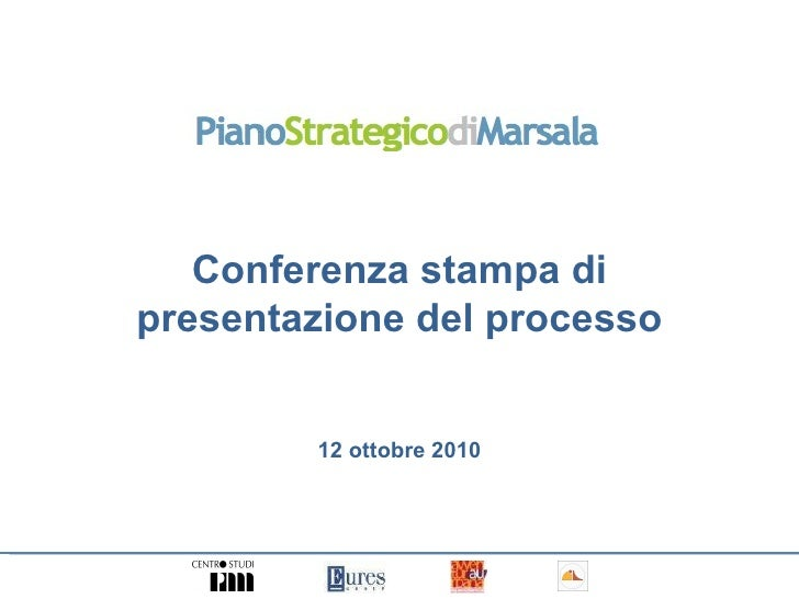 Piano Strategico di Marsala - Lancio