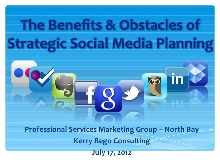 Professional Services Marketing Group – North Bay              Kerry Rego Consulting                    July 17, 2012