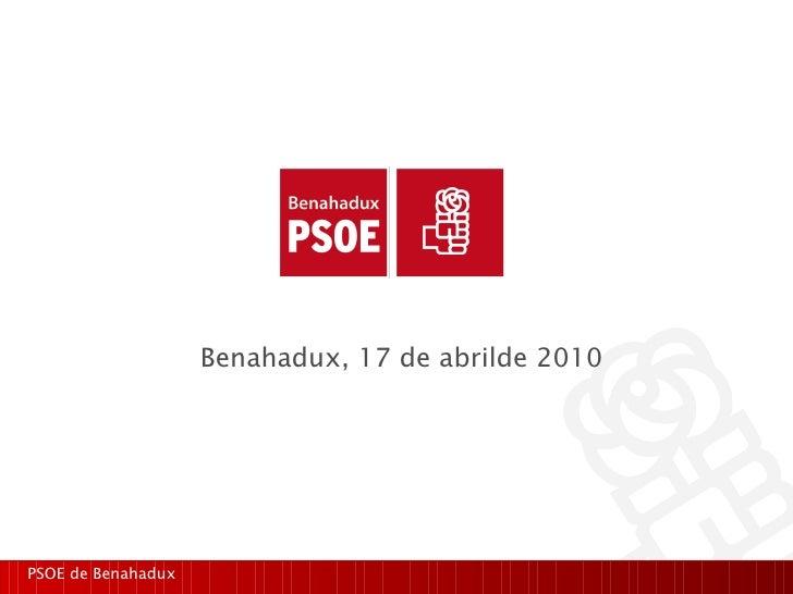 Presentacion web PSOE.BE