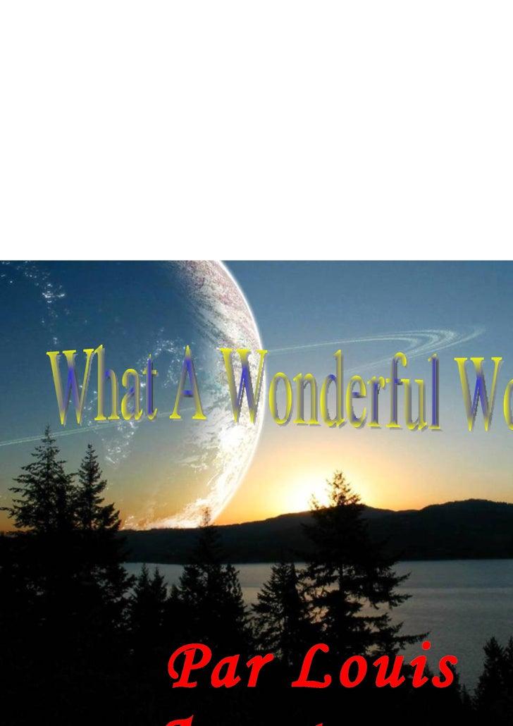 Par Louis Armstrong   What A Wonderful World