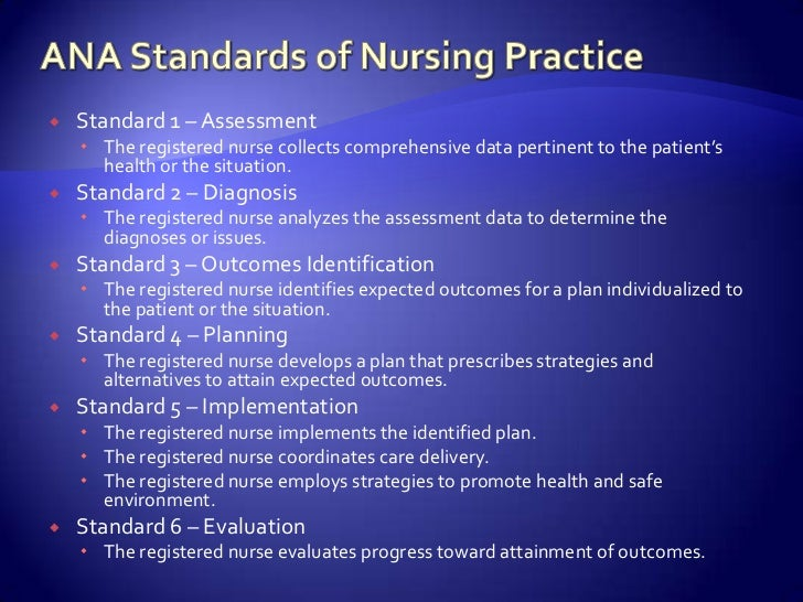 ana ethics and standards of nursing practice Nursing's social policy statement  in the original nursing: a social policy statement (ana,  a professional code of ethics u determining standards of practice.