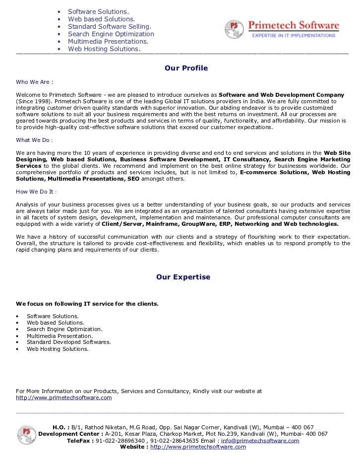 Primetech Software- A Software Development Company