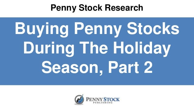 Buying penny stock options