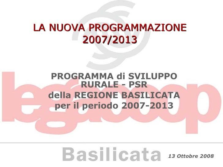 Psr Basilicata 2007/2013