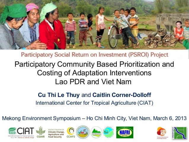 Participatory Community Based Prioritization and            Costing of Adaptation Interventions                 Lao PDR an...