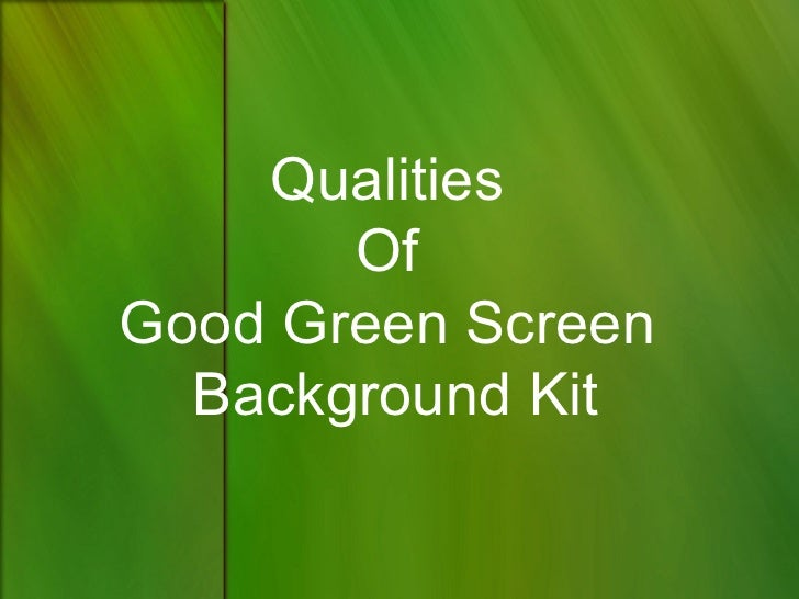 Qualities       OfGood Green Screen  Background Kit