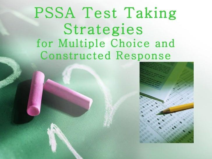 Pssa test taking strategies