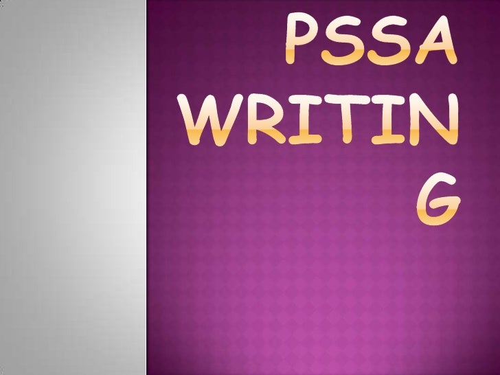 PSSA writing tips