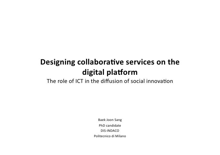 7 types of collaborative services and more