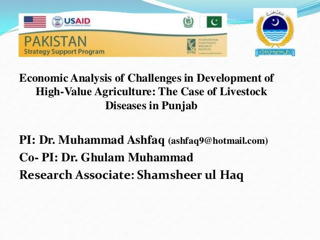 Economic Analysis of Challenges in Development of   High-Value Agriculture: The Case of Livestock               Diseases i...