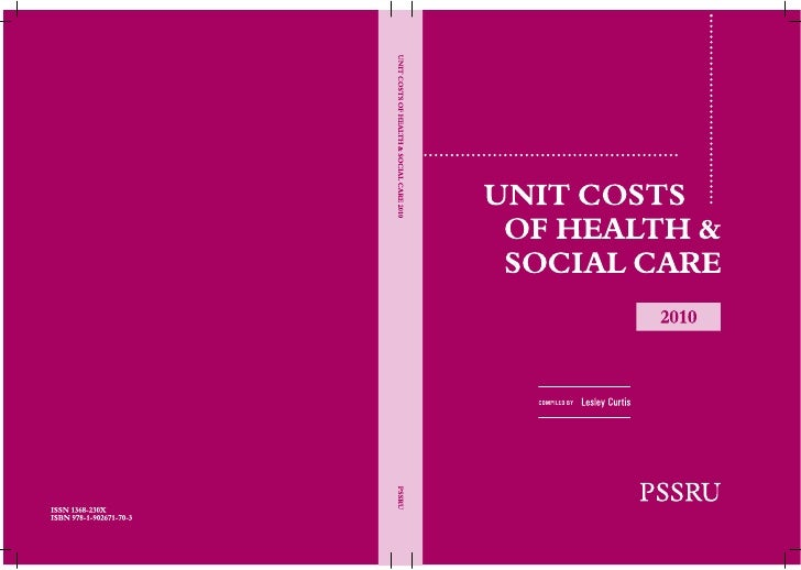 Pssru unit costs of health and social care