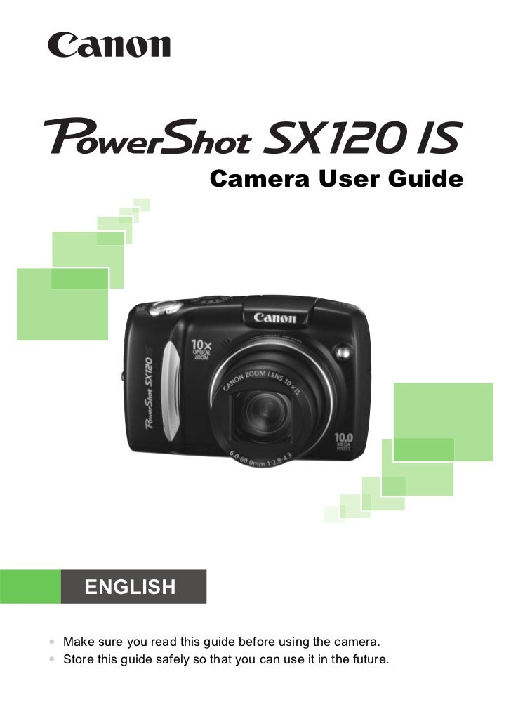 Camera User Guide      ENGLISH• Make sure you read this guide before using the camera.• Store this guide safely so that yo...