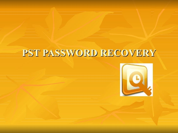 How to recover PST Password If Pst19upg Fails