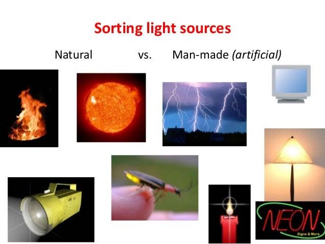 Natural Man Made Light Worksheet