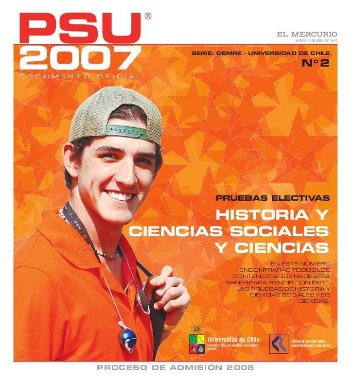 DEMRE: Historia PSU 2007