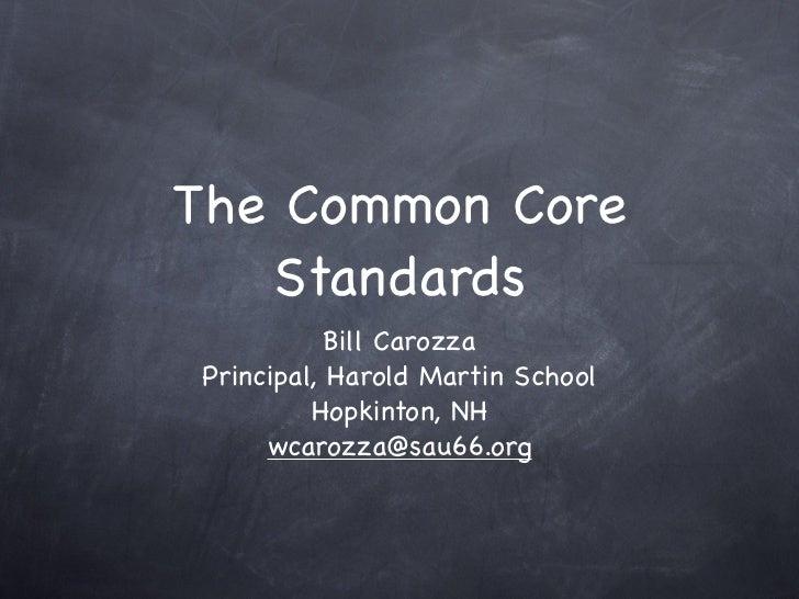 PSU Common Core Presentation