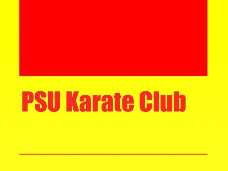 PSU Karate Club