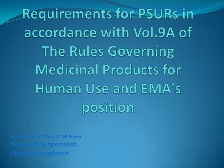 PSUR Requirements