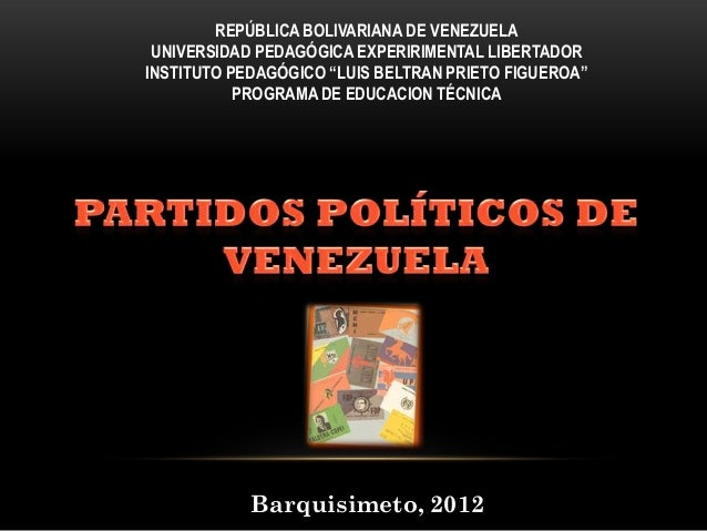 "REPÚBLICA BOLIVARIANA DE VENEZUELA UNIVERSIDAD PEDAGÓGICA EXPERIRIMENTAL LIBERTADORINSTITUTO PEDAGÓGICO ""LUIS BELTRAN PRIE..."