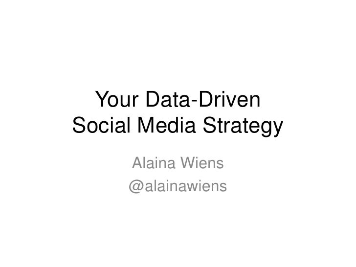 Your Data-Driven Social Media Strategy
