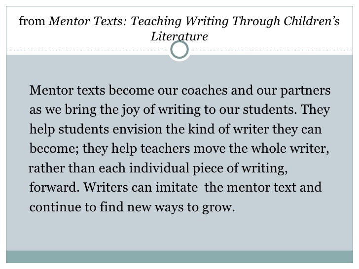 mentor texts for essays