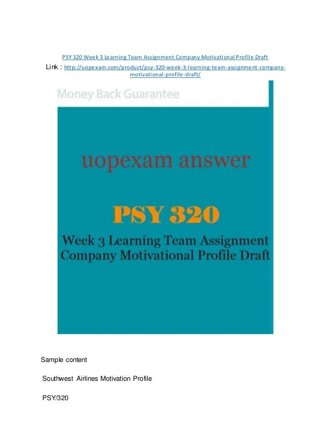 psy 320 motivation concepts table and analysis
