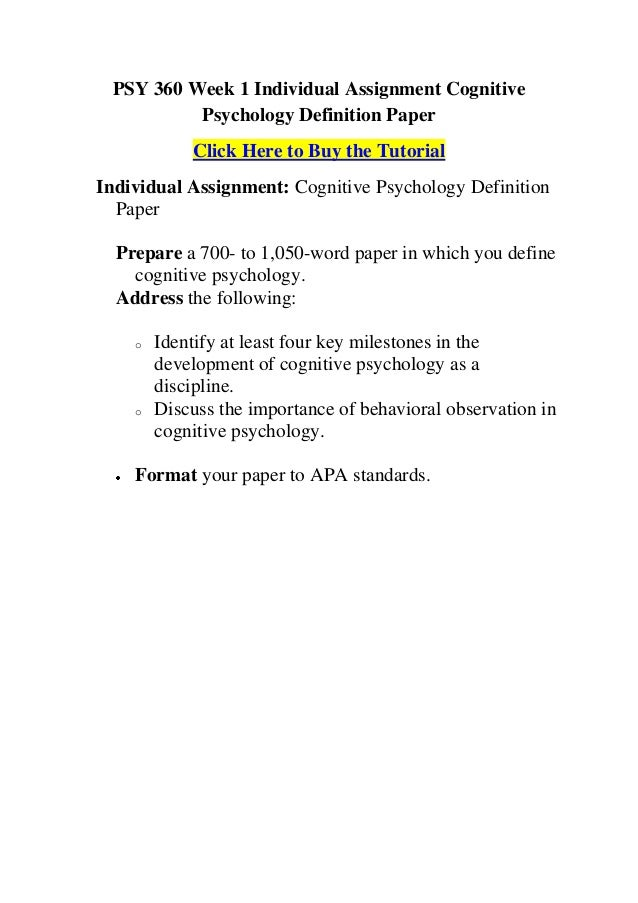PSYCH 540 COMPLETE COURSE (Research Methodology)