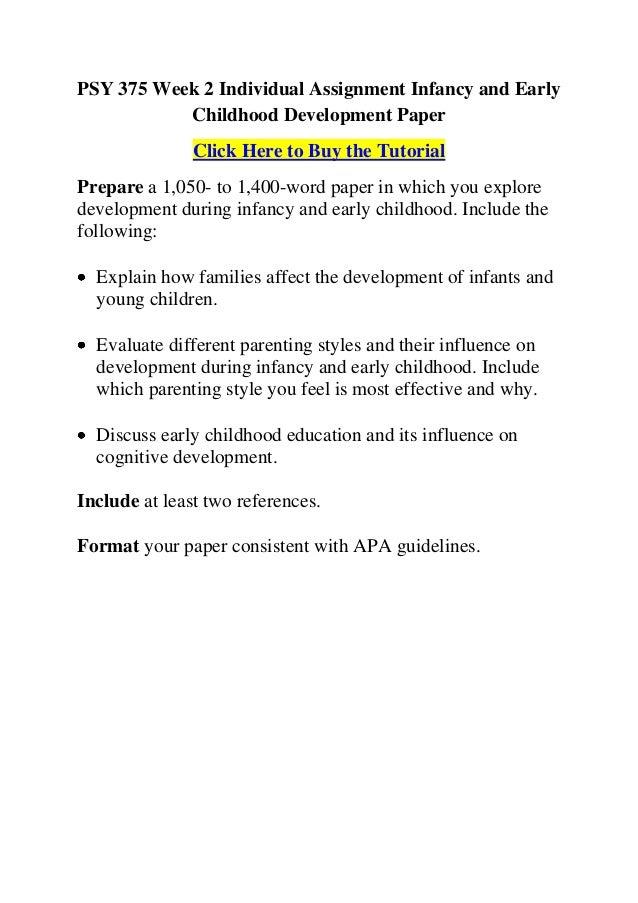 Child Development Assignment