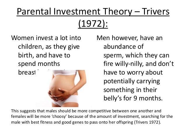 parental investment theory Interview mit prof robert trivers am lehrstuhl medienpsychologie der universität würzburg: wie kam er auf die idee für seine theorie zum parental investment.