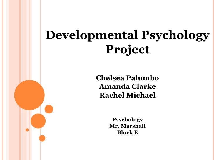 Developmental Psychology <br />Project<br />Chelsea Palumbo<br />Amanda Clarke<br />Rachel Michael<br />Psychology<br />Mr...