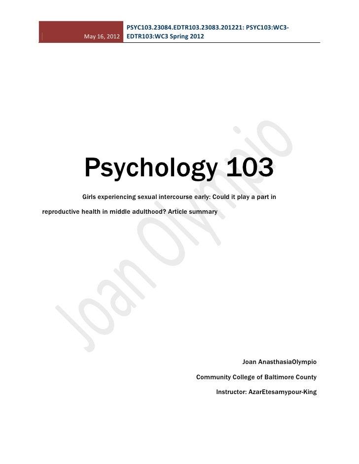 Psych 103