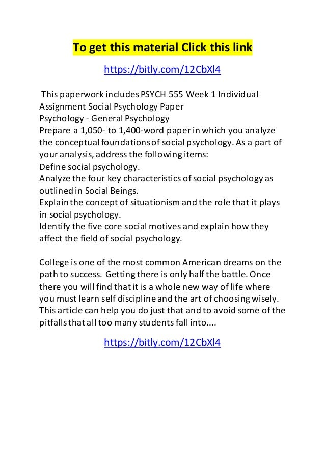 Essays On Psychology