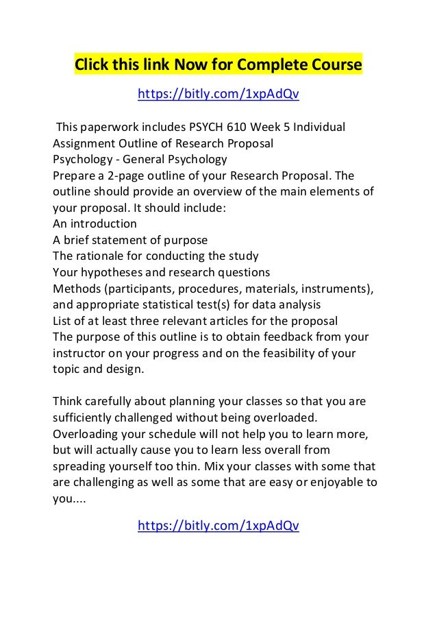 Individual research proposal