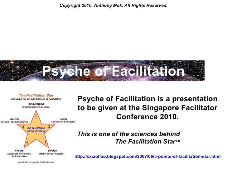 Copyright 2010. Anthony Mok. All Rights Reserved. Psyche of Facilitation Psyche of Facilitation is a presentation to be gi...